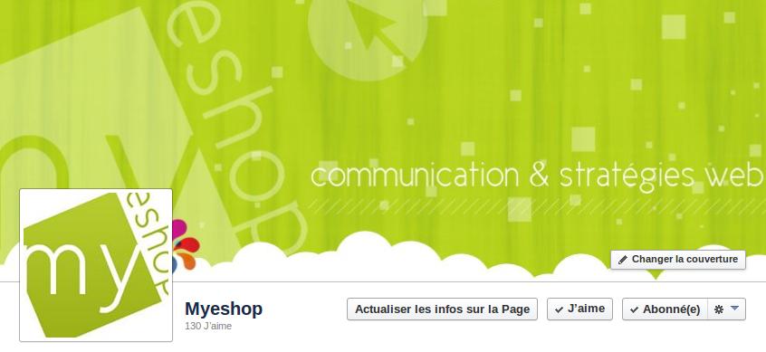 Page Entreprise Myshop Facebook